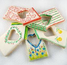 edible handpainted cookies~ too pretty to eat!