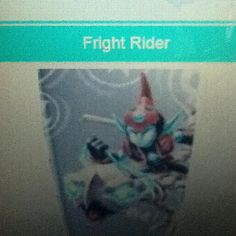 """Fright rider says """"fear the spear"""""""