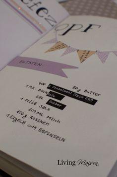 Living Maison: DIY: Rezeptbuch