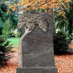 Stilvolles Grabdenkmal Mandaleen - Granit mit Lebensbaum Motiv • Qualität & Service direkt vom Bildhauer • Jetzt Grabstein online kaufen bei ▷ Serafinum.de