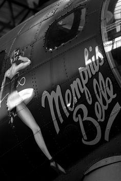 Memphis Belle. There was some initial disagreement about the choice of name for this plane amongst the crew. Whether you are superstitious or not, you could say it was a good choice. Are all the Belles in Memphis like this?  rjp