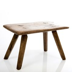 Vintage wooden milking stool. Perfect size for children to use around the house.