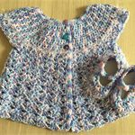 Baby Cardigan and matching Mary Jane Style Shoes