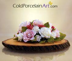 Cold Porcelain Art - Centerpieces - Pale Roses 1.jpg (570×488)