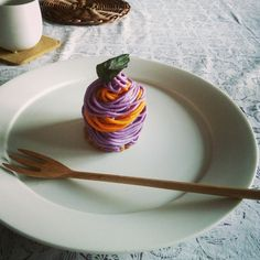 南瓜と紫いものモンブラン