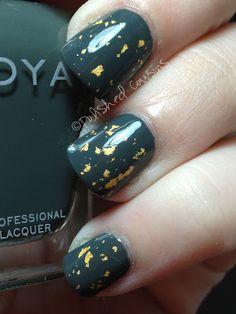 *Zoya - Gilty (Gilty Pleasures Collection LE Trio Fall 2012) / PolishedCousins [Layered over *Zoya-Evvie]