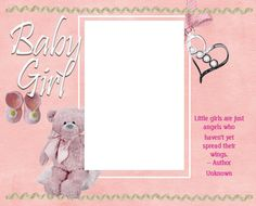 8x10 Baby Girl Adorned Picture Frame by SapphireCustomPhotos, $13.00