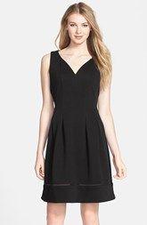 Taylor Dresses Piqué Knit Fit & Flare Dress