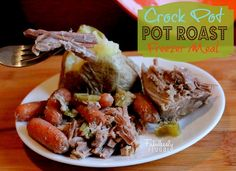 I love this freezer meal recipe. What a great idea to do Pot roast.