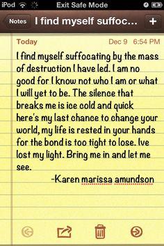 Sad quote poem thing