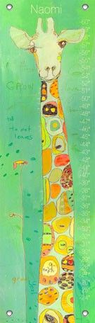 """Grow"" height chart by Jennifer Mercede for Oopsy daisy, Fine Art for Kids $49"