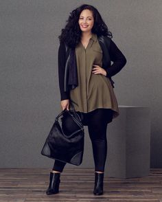 Curvy Fashion Staples for Fall to Die For! - Curvy Fashion Staples for Fall to Die For! Petite curvy fashion, Fashion outfits, Curvy fashion for women, Casual curvy fashion, edgy fashion style Casual Curvy Fashion, Winter Fashion Casual, Look Fashion, Womens Fashion, Fashion Trends, Fashion Fashion, Trendy Fashion, Ladies Fashion, Feminine Fashion