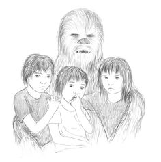 Jacen,Chewie,Anakin and Jaina