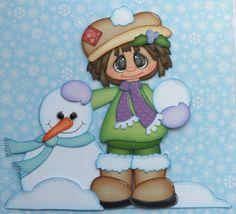 Frosty Fashionista-i love this piece! Diy Paper, Paper Art, Paper Crafts, Scrapbook Images, Scrapbook Cards, Paper Piecing Patterns, Applique Patterns, Paper Punch Art, Christmas Scrapbook