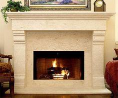 (http://www.cornerstonemantels.com/monte-cruz-304-natural-travertine-limestone-fireplace-mantel/)