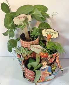 How to make seed pots using Toilet paper roll and Graphic 45 Home Sweet Home - video tutorial by Anne Rostad