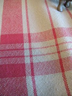 Tea Towel Red and Tan Handwoven, Chef Towel, Kitchen Towel, Guest Towel, 0350eac7511