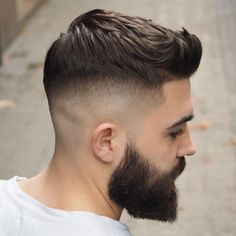 Check out these cool and modern ways to wear the quiff haircut. Add a peak to a pompadour, spikes or any fade haircut for men. Mens Hairstyles Quiff, Short Quiff Haircut, Types Of Fade Haircut, Short Fade Haircut, Medium Hairstyles, Wedding Hairstyles, Best Fade Haircuts, Haircuts For Men, Men's Haircuts