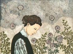 """Kirsi Neuvonen: """"Leijuva tunne syntyy siitä ettei näkökenttään ole ilmestynyt yhtäkään kiintopistettä, johon katseensa voisi kiinnittää (The floating feeling arises because there is no fixed points in sight, where you could focus)"""", 2011"""