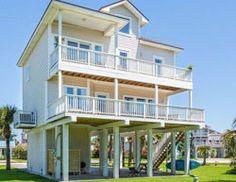 GALVESTON.COM Serenity Now Serenity Now, Galveston Island, Visitors Bureau, Beach Houses, Best Day Ever, Texas, Mansions, House Styles, Home Decor