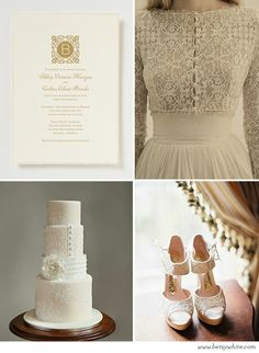 Inspiration: Vintage Lace and Buttons via Flights of Fancy // #weddinginvitation by Betsywhite Stationery