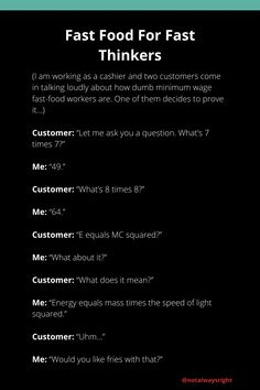 #funnystories #notalwaysright #customerstories #funnycustomerstories #techsupportstories #techsupport #reallifestories #funnycompilationstories #reallifestories 8 Times 8, Mass Times, Customer Service Jobs, Customer Stories, Fast Food Workers, Not Always Right, Working In Retail, Funny Stories, Dumb And Dumber