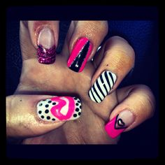 Barbie nails hand one