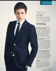 An artical for those who can't read of Eddie Redmayne in the newspapers