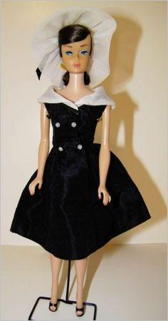 Vintage Brunette Swirl Barbie in After Five