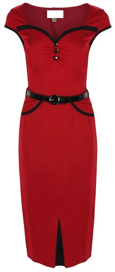 Red Pin Up Clothing Dress