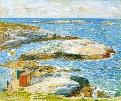 Bathing Pool, Appledore, 1907, by Frederick Childe Hassam (American, 1859-1935)