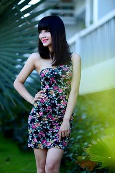 Flower dress for summer 2014 - Product code.D435 - Contact: levufashion@gmail.com, phone +84 936 156006
