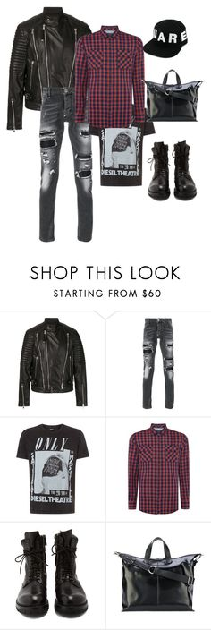 """Grunge men outfit"" by eda-kunics on Polyvore featuring Diesel Black Gold, Philipp Plein, Diesel, Pepe Jeans London, Rick Owens, Jil Sander, Dsquared2, men's fashion and menswear"