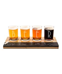 Look what I found on #zulily! 'Beer' Tasting Flight Set by Cathy's Concepts…
