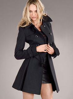 The Wool Trench Coat is not only good for cold weather, but this has a sexy look to it! I really like this trench!!