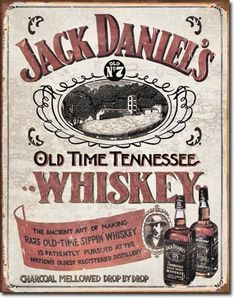 Jack Daniels - Sippin Whiskey Tin Sign 12.5 x 16 Inches