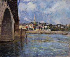 The Bridge at Saint Cloud - Alfred Sisley, 1877, Impressionism