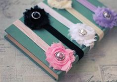 Pearl Shabby Flower Headband, $1.49 each