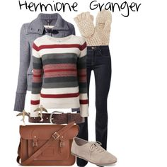 Gorgeus Hermione Granger in the fall / winter! Harry Potter Style, Harry Potter Outfits, Winter Outfits, Casual Outfits, Fashion Outfits, Emo Outfits, Fashion Boots, Fandom Fashion, Nerd Fashion
