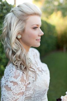 Half Up Half Down Wedding Hairstyles; via pinterest