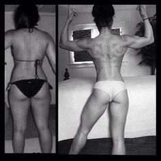Some before and after fitness motivation!