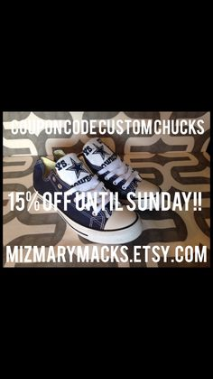 15% off ANY of Custom Converse till Sunday August 23 11 59pm. Use coupon  code… 8d437871da