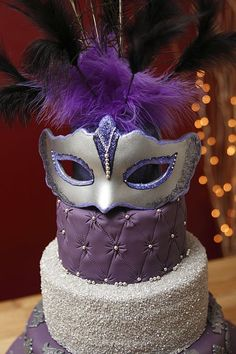 Masquerade Masks Cakes | ... Wonky (Topsy Turvy), Masquerade & Carnival Cakes & Cupcakes Galleries