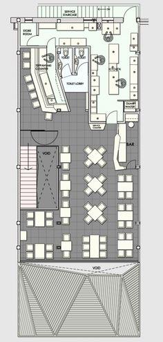 Image 13 of 15 from gallery of Auriga Restaurant / Sanjay Puri. First Floor Plan Restaurant Layout, Restaurant Design, Restaurant Bar, Restaurant Floor Plan, Decoration Restaurant, Modern Restaurant, Cafe Floor Plan, Floor Plan Layout, Floor Plans
