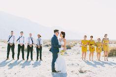 jackier wonders photographer #palmspringswedding #bridalparty #mustard #desertwedding