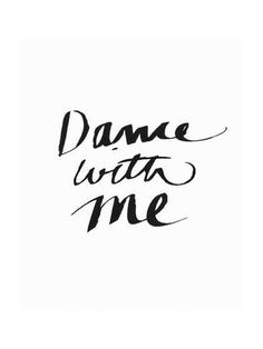 Art Print: Dance with Me BW by Linda Woods : 24x18in