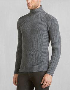 Littlehurst Turtleneck Sweater - ASPHALT Wool Men
