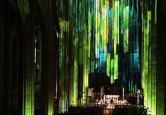 20 Miles of Stained Glass Colored Ribbon Hang Inside a SF Cathedral - My Modern Metropolis, pinned by BroCoLoco.com