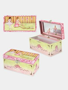 Enchantmints Ballet Shoes Musical Jewelry Box - $20.65 This is so adorable! Cute accessory for a ballerina themed nursery too. #allaboutdance