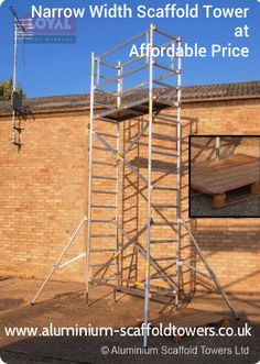 Buy online best quality scaffolding and Narrow width scaffold tower which is designed by experts who pay attention more on safety and quality. These towers most secure in aluminium scaffold tower selling market. Aluminium Scaffolding, Towers, Popular, Type, Design, Tours, Most Popular, Popular Pins